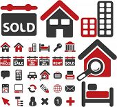 real estate signs. vector