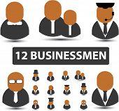 12 businessmen. vector