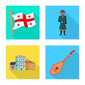 Vector Design Of Culture And Sightseeing Symbol. Set Of Culture And Originality Stock Symbol For Web poster