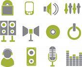 media & music signs. vector