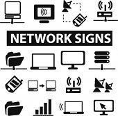 network icons, vector