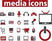 media icons, vector