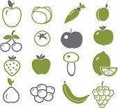 green vegetables, vector