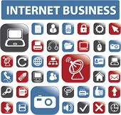 web & internet business glossy buttons, vector