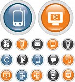 communication buttons, vector