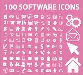 100 software icons, vector