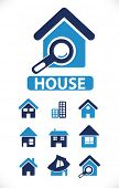 house icons, signs, vector illustrations