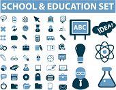 escuela & Educación set, vector