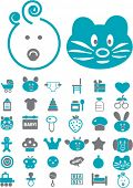 baby & kids icons, signs, vector illustration
