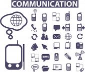 communication icons, signs, vector illustrations