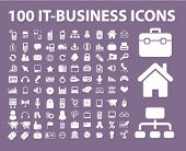 conjunto de 100 iconos de la empresa, vector illustration