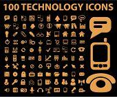 Постер, плакат: 100 технология иконы set вектор