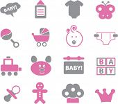 picture of babysitting  - baby icons set - JPG