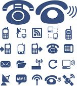 phone icons set, vector