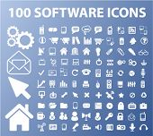 100 iconos software & aplicaciones, vector