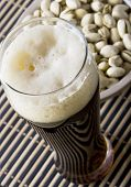 Beer With Salty Pistachio