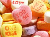 Valentines Day  Conversation Hearts Macro