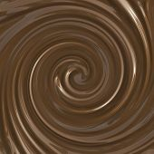 Smooth chocolate swirl background