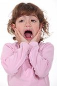 stock photo of fussy  - Little girl screaming - JPG