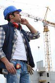 Cran on construction site