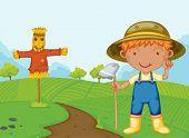 Illustration ein Bauernjunge - EPS-Vektor-Format auch in meinem Portfolio verfügbar.