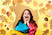 Fall Fashion. Enjoy Fall Weather With Proper Garments. Waterproof Accessories Make Rainy Fall Day Ch poster
