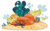 Illustration of coral reef object - EPS VECTOR format also available in my portfolio.