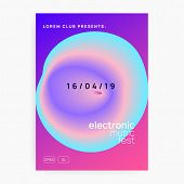 Music Fest. Wavy Indie Party Cover Layout. Electronic Sound. Night Dance Lifestyle Holiday. Fluid Ho poster