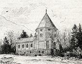 Bismarck Mausoleum. Engraving by Shliper. Published in magazine
