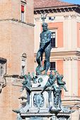 Fountain Of Neptune On Piazza Del Nettuno In Bologna