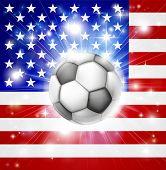 Usa Soccer Flag