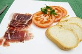 tomato ham and bread all in one dish