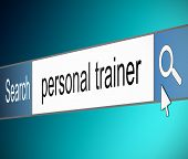 Personal Trainer Search Concept.