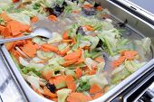 pic of chafing  - photograph of food at buffet on chafing dish - JPG