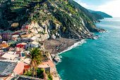 View Of Vernazza Seaside. Vernazza Is A Town And Comune Located In The Province Of La Spezia, Liguri