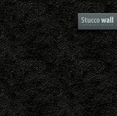 seamless texture of black stucco wall vector illustration EPS10. Transparent objects used for shadow