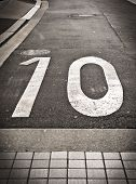 Number 10 On A Road