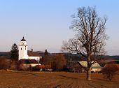 evening view of Netin village - Czech Republic
