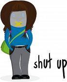 Cale-se ilustração de menina