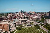 Blick auf Downtown Kansas City-Skyline