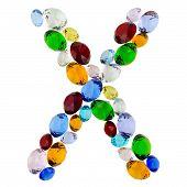 Letter X of gems