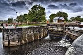 Vintage lock on Shannon river