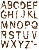 Постер, плакат: Разрушенный сигареты алфавит