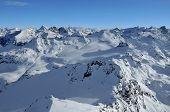 Swiss Alps Including Matterhorn And Dent Blanche