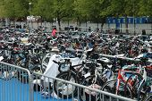 Bicycle Waiting At Poznan Triathlon