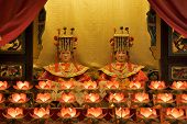 Hong Kong, China, November 19: Buddhist Goddess Worshipped in Tin Hau Temple on November 19, 2011