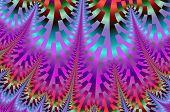 Fractal fairytale - iridescent mosaic.