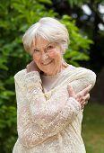 Smiling Friendly Senior Woman