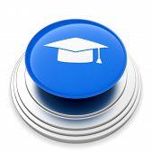 Ggraduation Cap Sign Button