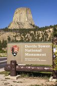 Devils Tower National Monument Sign